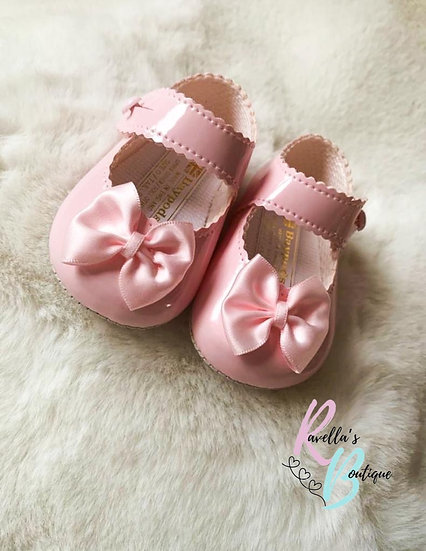 Girls shoes with bow - pink