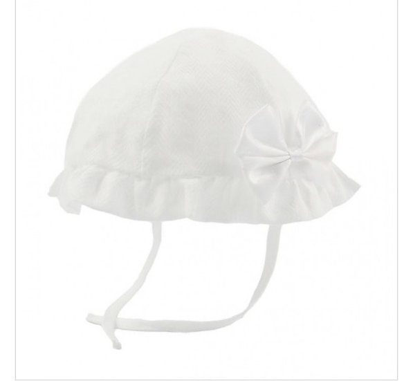 White hat with glitter bow