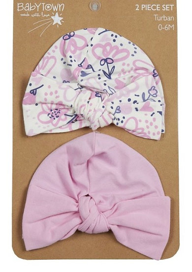 Baby girl turban set