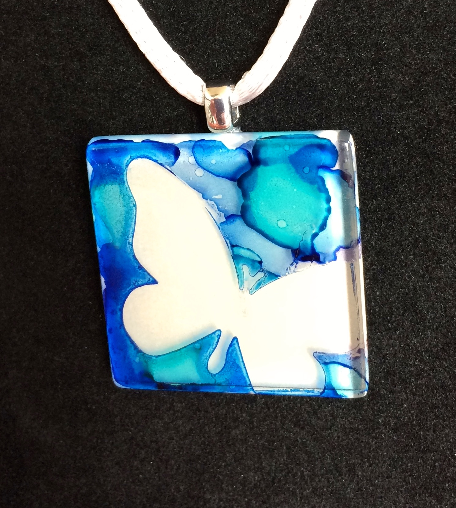 Alcohol Ink on Glass Tiles