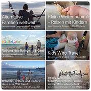inormative Facebook Guppe zum Reisen mit Kindern
