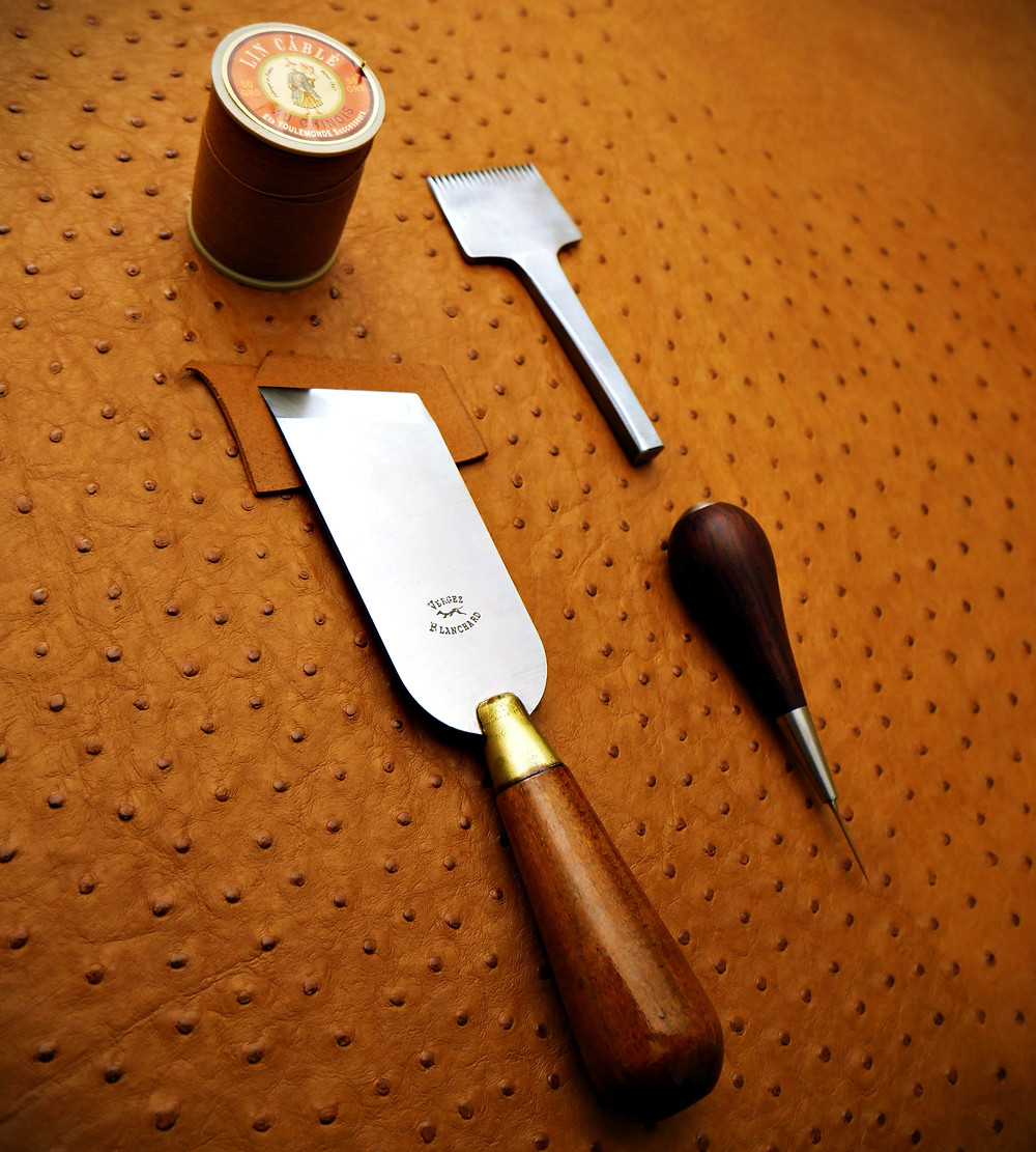 leathercraft tools and pricking iron