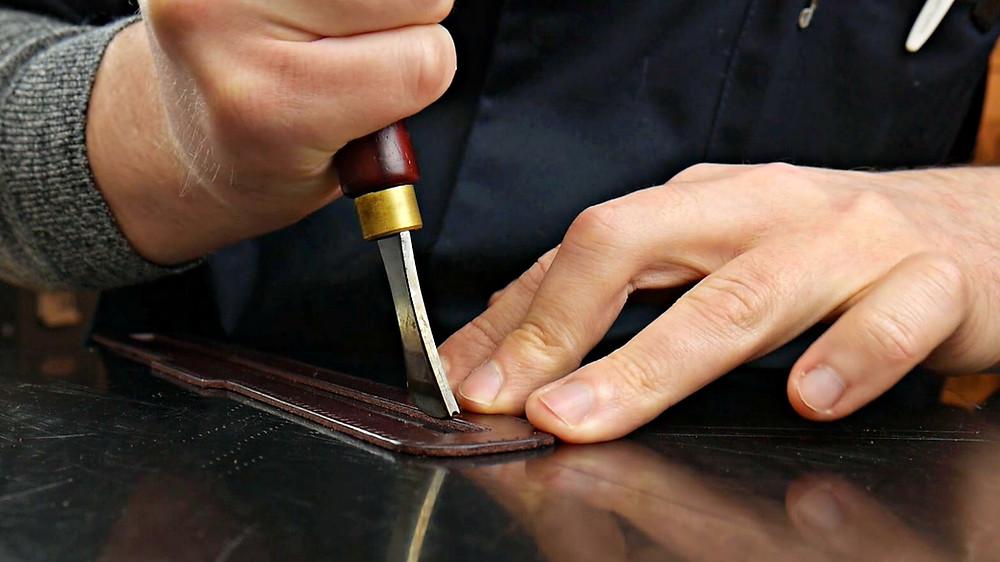 manual leather edge creaser