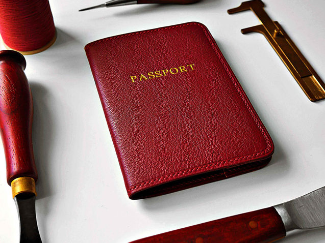 The Turned Edge Passport Wallet