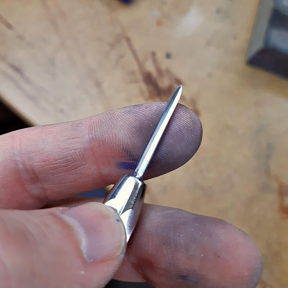 using an awl for stitching