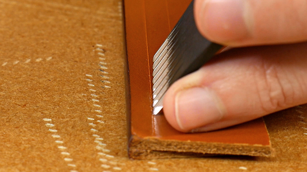 marking stitches in leather
