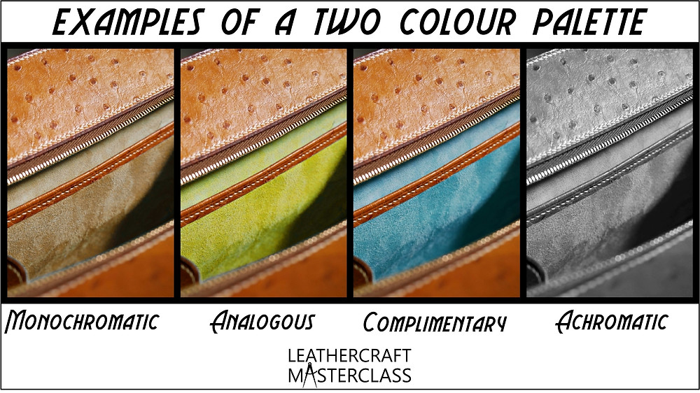 How to choose leather colors for your projects. The colour combination cheat guide