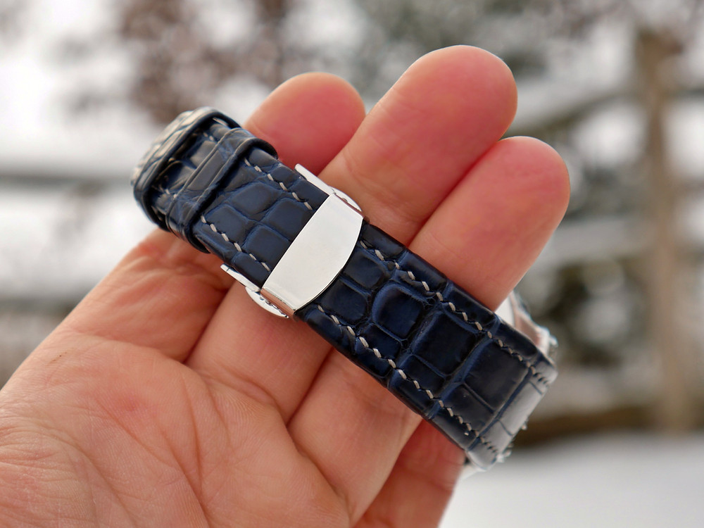 Turned edge luxury watch strap