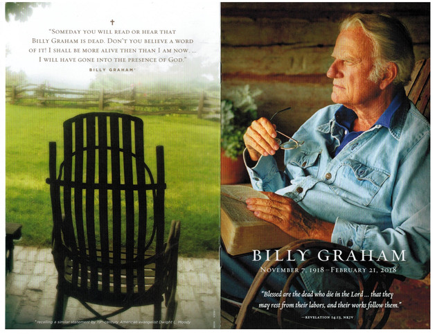 How will you be remembered? A reflection on attending Billy Graham's funeral