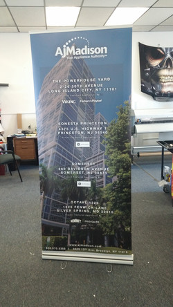Banner display in nj