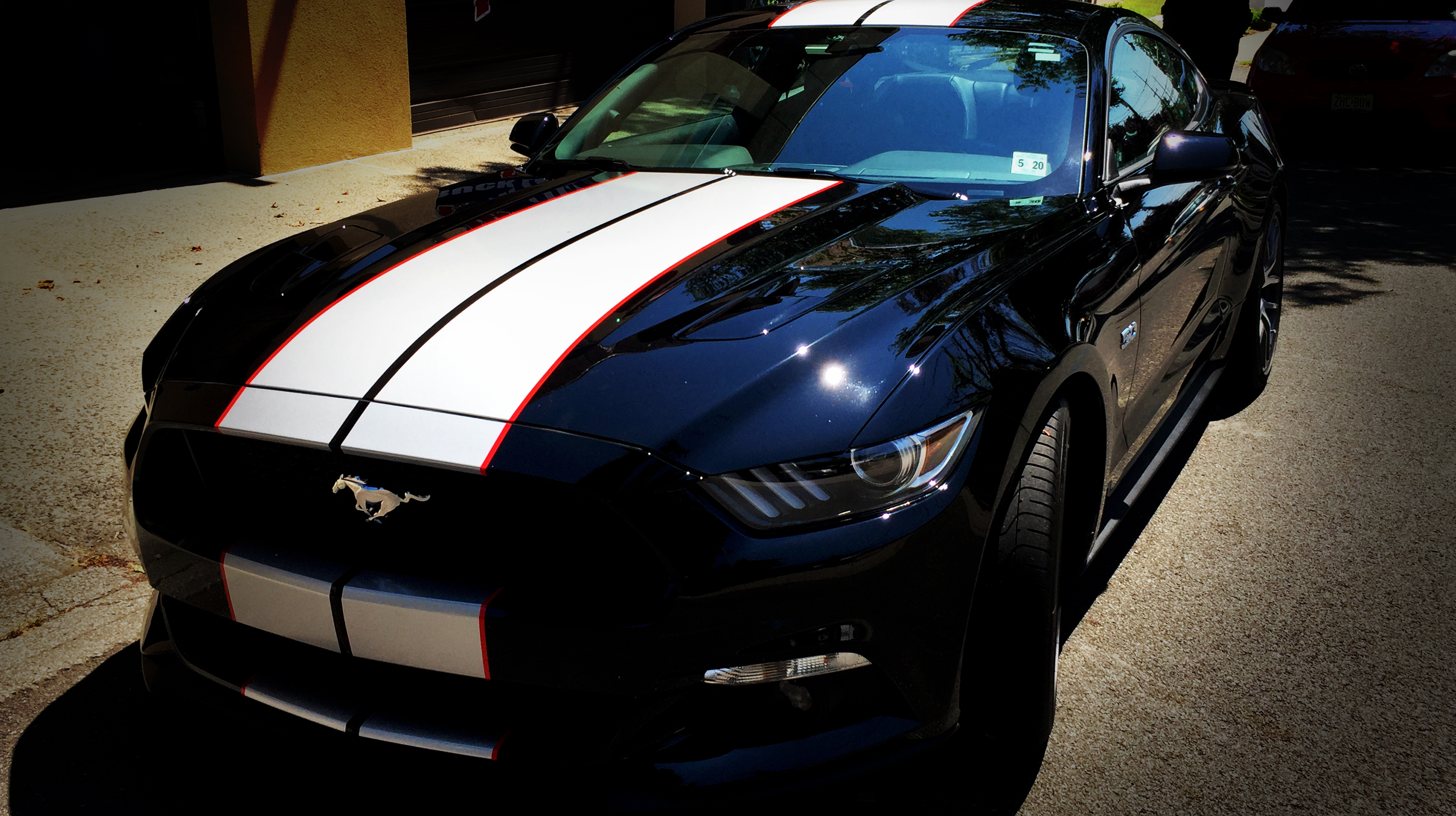 Custom Mustang Racing Stripes