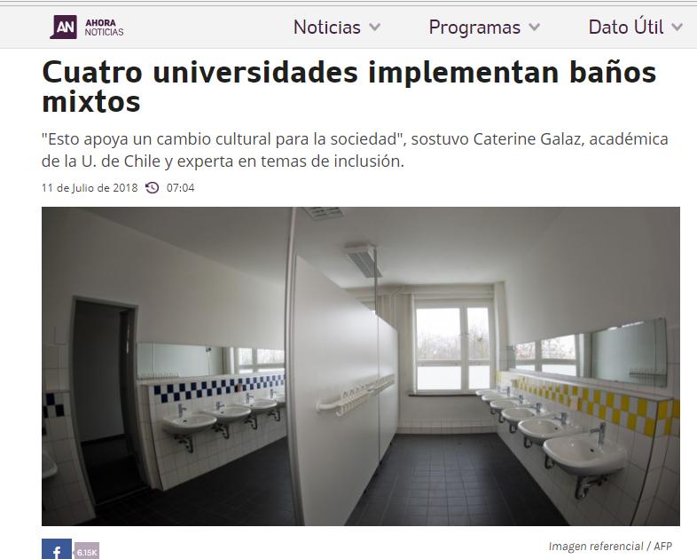 Ya cuatro Universidades Chilenas avanzan con la agenda de género, esta vez instalando baños públicos mixtos.