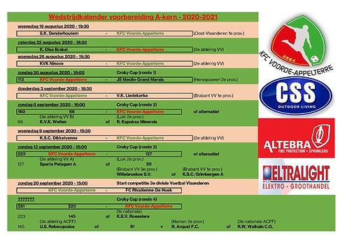 20200814 wedstrijden voorbereiding KFCVA