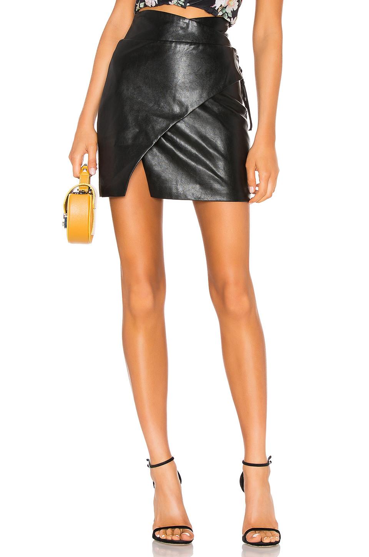 MAJORELLE Hyperion Mini Skirt in Black