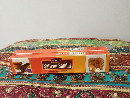 Saffron and sandalwood incense sticks