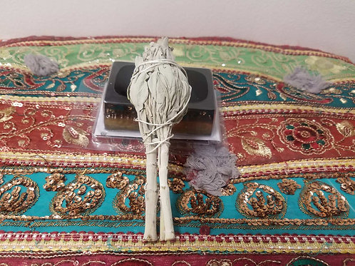 Sage wand for smudging 4in small