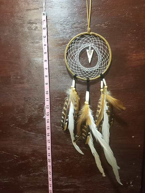 Native American Hunter Style Dreamcatcher With arrowhead MED Size