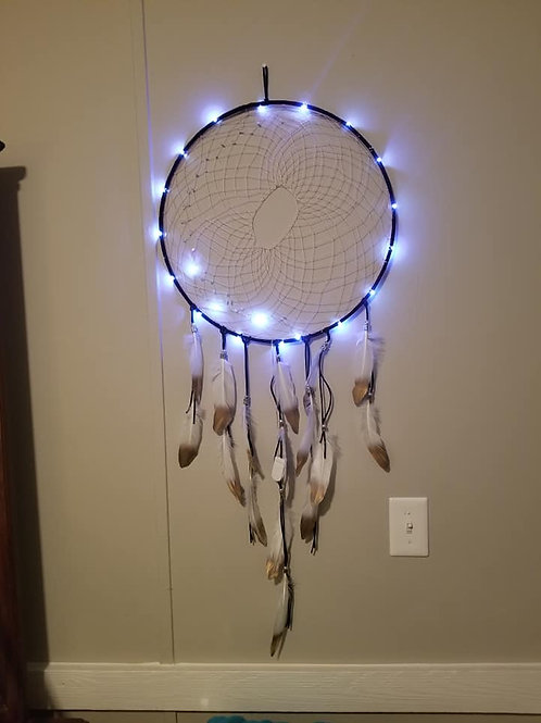 Mother Crescent Moon Crystal / Led DreamCatcher