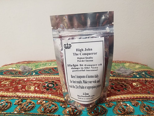 High John The Conqueror Incense Powder 1/2 oz. Each