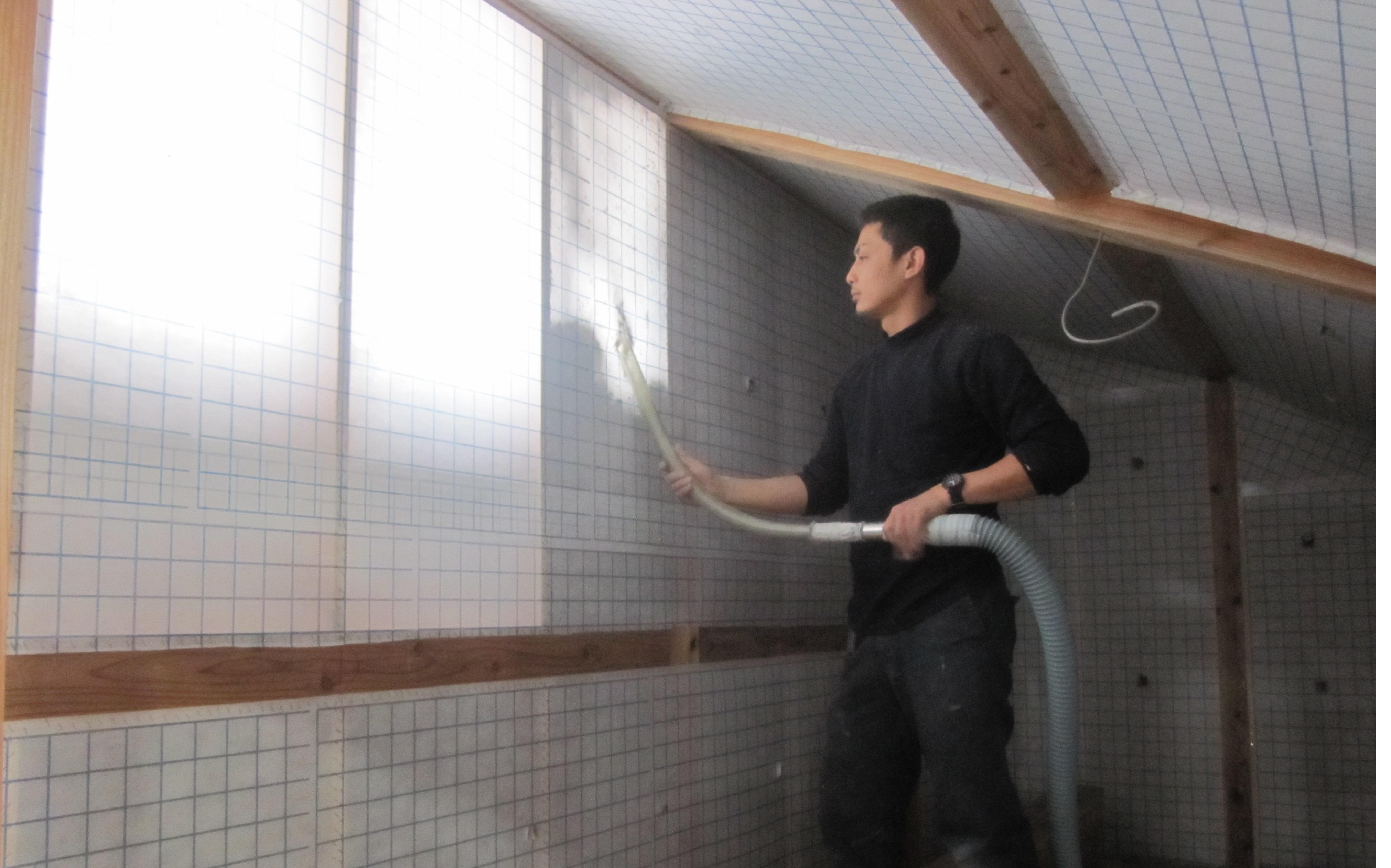 壁断熱材吹込みデコスドライ工法 (5)