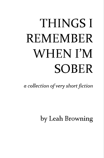 Things I Remember chapbook cover