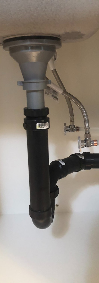 Bar Sink Installation - Piping