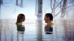Cloud 9: Dove and Luke in the pool