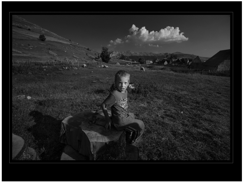 A boy and a cloud