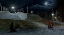 Cloud 9: Evening at the halfpipe