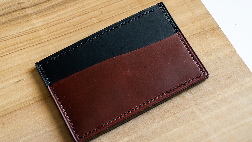 No•33 in Black & Burgundy Heritage Leather