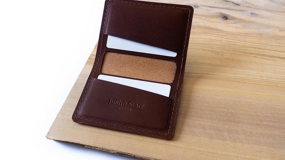 Bifold Wallet in Burgundy Buttero Leather