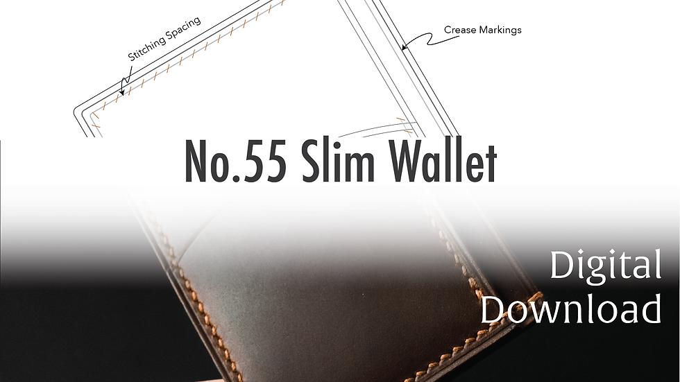 No.55 Priority Slim Wallet Template