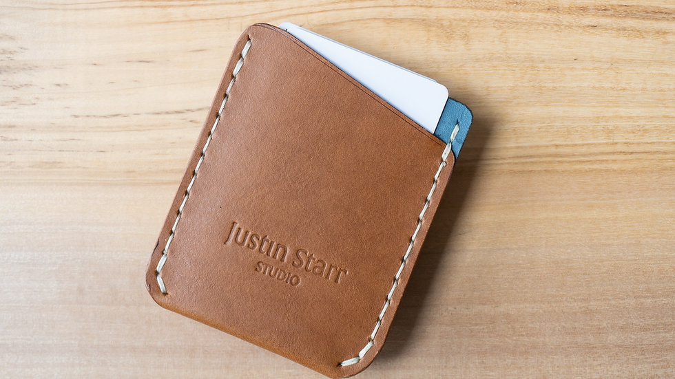 Card Wallet in Whiskey Nubuck Leather