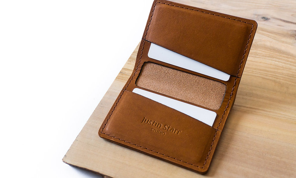 Bifold Wallet in Whiskey Buttero