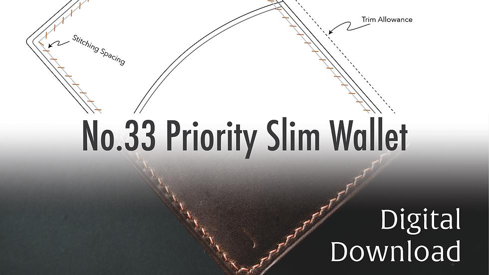 No.33 Priority Slim Wallet Template