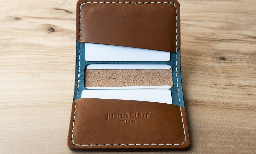Bifold Wallet in Whiskey Nubuck Leather