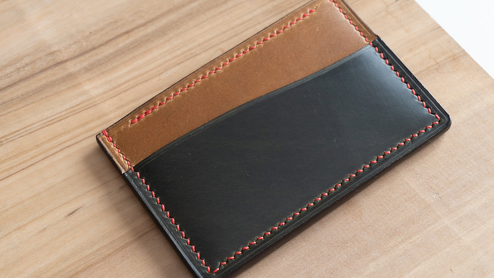 No•33 in Green Heritage Leather with Red Stitching