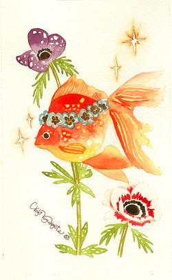 アネモネと金魚_
