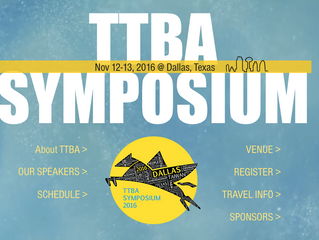 2016 TTBA Symposium 11/12-13 @UTSW, Dallas, TX.