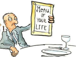 O menu da sua vida...