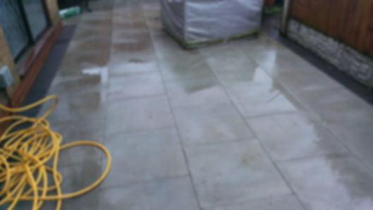 Patio clean after