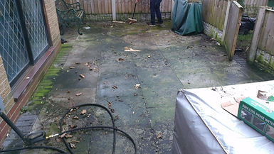Patio clean before