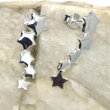 Sterling Silver 4 stars stud earrings