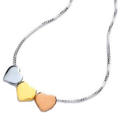 Sterling Silver  and 9ct gold overlay  Necklace