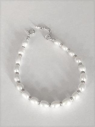 Sterling Silver  & Freshwater Pearls Bracelet