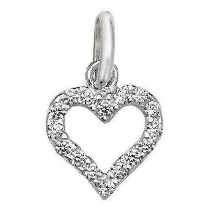 Sterling Silver & CZ Heart pentant.
