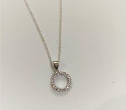 Sterling Silver and CZ  Circle of Life Pendant