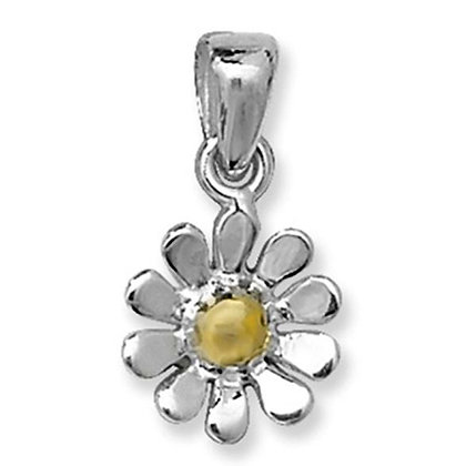 Sterling Silver & 9ct gold Daisy Pendant