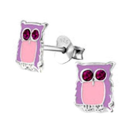 Sterling Silver Novelty Owl Studs