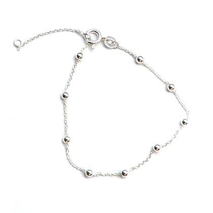 Sterling Silver  satelite bead  Bracelet